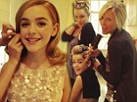 Dressed in Oscar de la Renta and styled by Rachel Zoe: Mad Men's Kiernan Shipka, 13, reveals how she got red carpet ready for SAG Awards with candid photo diary