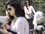He's so handsome... just like Matthew! Camila Alves shows off her baby son Livingston McConaughey for the first time