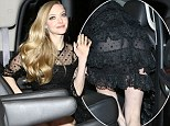 Another Miserable wardrobe malfunction: Amanda Seyfried exposes her underwear in sheer dress at SAG Awards after party