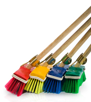 All types of brooms for spring cleaning!
