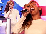 'I didn't sing live for Obama, but I will at the Super Bowl': Beyonce addresses lip-synching controversy with a LIVE rendition of the national anthem