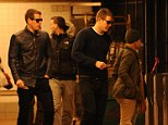 No magic button: Cameron and Tyler Winklevoss, best known for their legal battle against Mark Zuckerberg over the founding of the social betworking site, were spotted boarding the R train in the New York subway