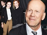 A good day to bring feminine charm! Bruce Willis' daughters steal the show at Die Hard mural unveiling