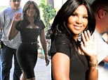 Toni Braxton at The Grove to do an interview with Mario Lopez
