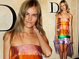 Fashion flop! Isabel Lucas is swamped in dreamy Christian Dior dress at designer's store opening in Sydney