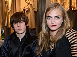 Young love: Cara and Jake debuted their romance this week at a Burberry event