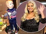 Time to wash up! Jessica Simpson tweeted a picture of her daughter Maxwell on Friday