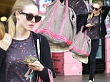 After going on a diet to play the coquettish Cosette in Les Miserables, Amanda Seyfried made sure to bring an extra large reusable shopping bag as she loaded up on groceries at a Bristol Farms in Los Angeles on Friday.