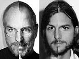 Doubleact: New split image show Ashton Kutcher as an older Steve Jobs with receding hairline