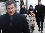 Jason Bateman and his adorable family go for a walk in New York two days after he locked lips with Jane Krakowski