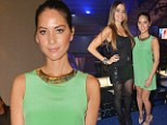 Green with envy! Olivia Munn is dressed to impress as she joins Sofia Vergara at Rolling Stone Super Bowl Party