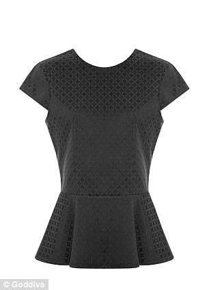 This black peplum top and beige jumper were the best sellers from Louise's last collection for the site