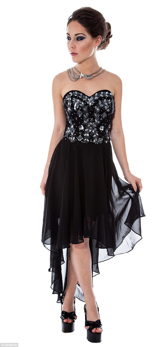 Embellished dresses form a key part of her latest collection which is perfect for the upcoming Christmas party season
