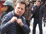 Fighting fit! Michael J Fox puts his dukes up on set of his new show in New York