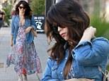 Simply stunning! Pregnant Jenna Dewan-Tatum looks fresh faced as she covers her bump in vivid maxi dress