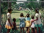 Outsiders: This vivid photograph entitled 'Outside Looking In' was taken at the height of segregation in the United States of America