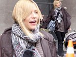 Time to visit daddy! Claire Danes takes baby Cyrus to visit Hugh Dancy on the set of his new movie