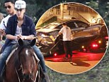 Justin Bieber was spotted riding a horse just hours after his flash sports car was towed