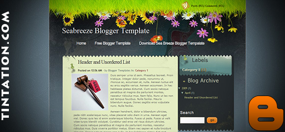 Download Free Blogger Template Sea Breeze