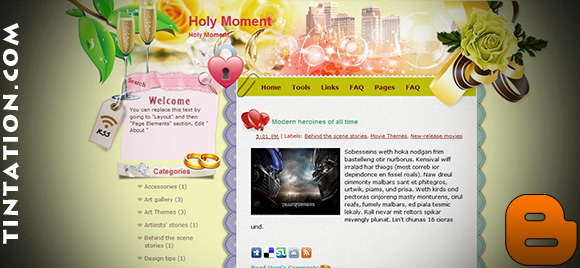 Download Free Blogger Template Holy Moment