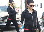 She's got a spring in her step! Pregnant Jenna Dewan displays her growing baby bump in workout attire as she bounds out of pre-natal yoga class