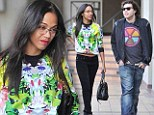 Who needs Bradley Cooper? Zoe Saldana goes out to lunch with mystery man