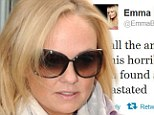 Emma Bunton tweet about finding out her dog Phoebe is dead