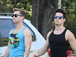 Styles NSync: Lance Bass and boyfriend Michael Turchin leave their Hollywood home wearing similar outfits on Wednesday