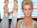Sheer daring! Julianne Hough flashes the flesh in an elaborate gown which only just protects her modesty at Safe Haven premiere