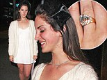 Have you got something to tell us? Lana Del Rey flashes huge diamond on her left ring finger as she walks along Sunset Boulevard