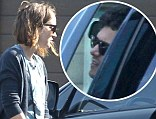 Leighton Meester says goodbye to rumored new beau Adam Brody as he leaves her house first thing in the morning in Los Angeles