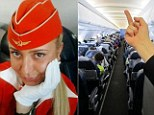 Aeroflot airline bosses in Russia fired flight attendant Tatiana Kozlenko after the picture showing the finger gesture being made to a cabin full of passengers went viral.