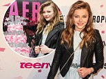 A very sweet 16! Chloe Moretz looks beautiful in baby blue to ring in landmark birthday with the help of Teen Vogue