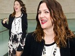 It goes with my outfit! New mum Drew Barrymore protects her modesty with a pair of figure-boosting black Spanx