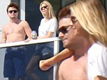 Pictured: Shirtless Leonardo DiCaprio gets fawned over by mystery blonde in Miami