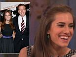 Girls star Allison Williams says she watches the show with her dad, news anchor Brian
