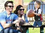Supportive parents: Mark Wahlberg and his wife Rhea Durham cheer on their son as he shows off his basketball skills