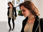 The perks of being a fashionista: Emma Watson heads to lunch in a chic ensemble complete with knee high boots