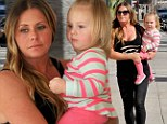 Mommy's spa day! Nicole Eggert takes her children along as she preps herself at beauty salon ahead of Splash debut