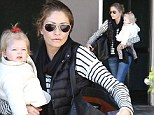 She is undoubtedly the trendiest toddler in the world so perhaps it is not unusual that Rebecca Gayheart decided her daughter Georgia would adopt the Harper Beckham trademark ponytail out in Beverly Hills.