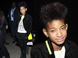 Willow Smith attends the Narciso Rodriguez fall 2013 fashion show