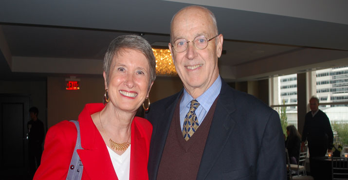Pam Erickson and Terrence R. Pancoast, President of the Board of Directors