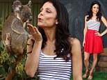 Kisses for the koala: Bethenny Frankel poses during her visit to Wild Life Sydney on Wednesday in Sydney, Australia