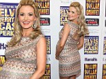 Radiant: Holly Madison was glowing on the red carpet for the opening night of Million Dollar Quartet at Harrah's in Vegas on Tuesday