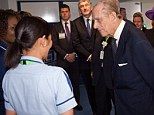 Any of you left? The 91-year-old joked with staff during a visit to Luton and Dunstable Hospital earlier today
