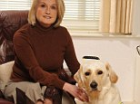 Fresh start: Debbie, with her guide dog Kacey, has rebuilt her life after losing her sight