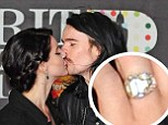 Lana Del Rey sparked engagement rumours at the Brit Awards on Wednesday by wearing a sparkling ring on her finger