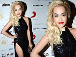 Soaring style: Rita Ora swaps her couture gown for a sequin dress with a hip height split for Brit Awards after-party