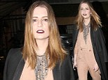 Count Barton: Miss Mischa does her best to spook by sporting Gothic style make-up as she heads to LFW closing party