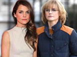 Keri Russell proves blondes don't always have more fun as she dons dowdy wig on set of The Americans